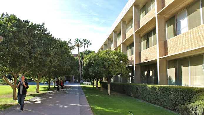 outdoor shot of CNS-ASU office