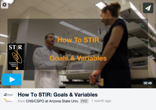 STIR Goals & Variables Training Video Screen Shot