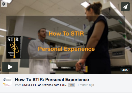 STIR Personal Experience Video Screen Shot